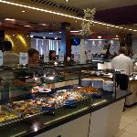 The hot food selections inside Tysons