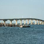 New bridge in Titusville seen from Space View Park
