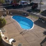 Pool view from 4th floor room