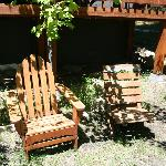 Chairs out front of our cabin