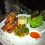grilled king prawns. superb