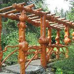 One of the unusual bridges in gardens