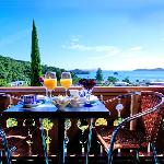 balcony views from Chalet Romantica