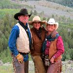 Sue Applegate (middle) and two of her awesome wranglers