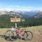 Mountain biking on the nearby Monarch Crest Trail