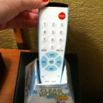 "Cute ""clean"" remote. One of the few clean things in here..."