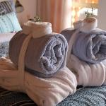 fluffy bathrobs and towels for our guests