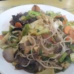 Mixed Vegetables with Phing(Glass Noodle) with black mushroom
