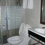 Bathroom with bad toilet bowl