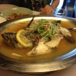 Steamed fish in Lemon Grass