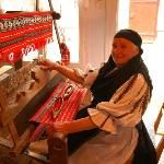 Grandmother weaving