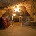 Entrée de la cave à 12 mètres sous terre