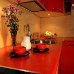 Cocina, apartamento 4 pax. camas individuales