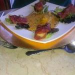scallops in Parma ham