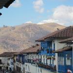 Fron our balcony. Viva El Peru!