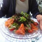 Lachs Salad ( smoked salmon salad )