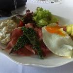Westphalian Ham with egg salad