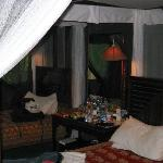 Our tented room