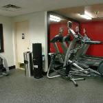new equipment in work out room