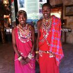 Maasai workers at the hotel