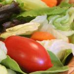 We offer a variety of fresh salads for every taste.