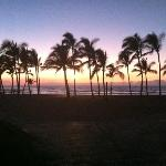 Sunset from a Mauna Lani restaurant