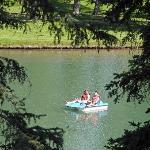 Bowness Park - paddleboat on lagoon
