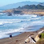 Moonstone Beach...a favorite spot for visiting with other nature lovers along Moonstone Beach