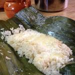 rice Tamal w/melted cheese