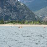 lake dillon, kayakers