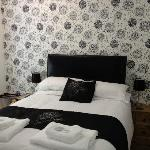 Black and white themed rooms