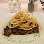 Angus Ribeye with Toasted Onions