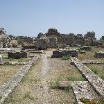 Ruins of Baths on the road to Pythagorion.