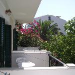 The neighbouring balconies.