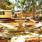 giardino in area mobil home