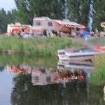 some RV sites on the lake with full hook ups