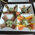 Sashimi Platter (Tuna, Hamachi, Salmon, Scallops and Octopus)