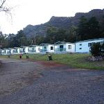 the row of deluxe cabins