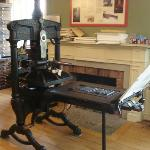 Another of the presses on display - you get to use this one!
