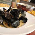 Mussels of the Day - leek and smoked bacon sauce