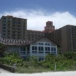 View from beach (hotel and beach house)
