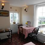 Lovely 1940s inspired tea rooms with gorgeous views over Low Town and the River Severn