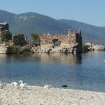 Blick von der Pension auf den Bafa See