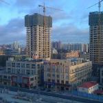 Umzingelt von Hochhaus-Baustellen