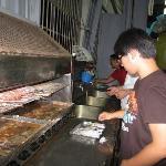 Our volunteer shrimp cook