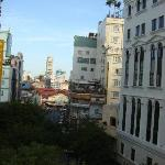 You can see Ben Thanh market from the room.