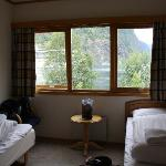 Spacious double room with two comfy single beds
