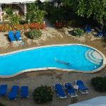 piscina vista dalla camera