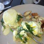 Fabulous Smoked Whitefish Eggs Benedict, the essence of Lake Michigan living in food form!