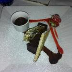 dessert with a chocolate liquer -- the sugar was perfunctory